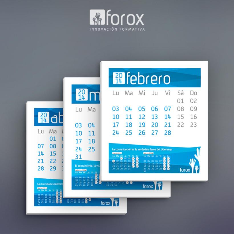 Calendario 2014 para Forox 3