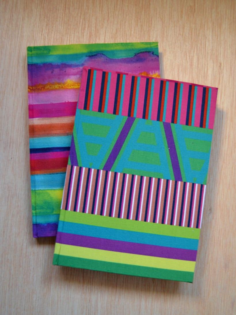 Cuadernos entelados 25