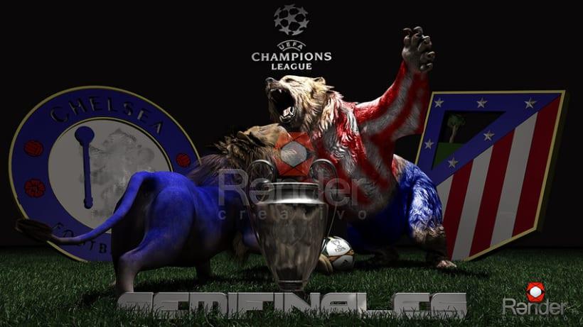 Semifinal Champions League: Atlético de Madrid- Chelsea -1