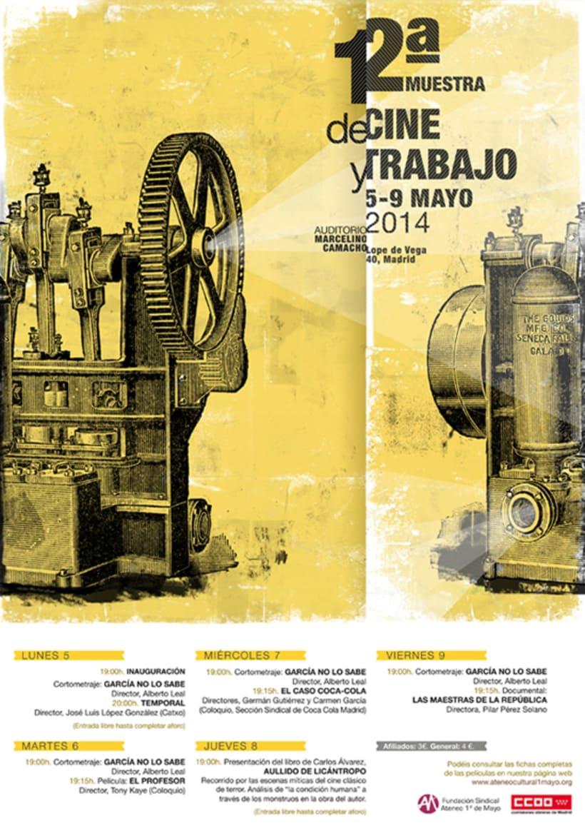 Cartel 12ª Muestra de Cine y Trabajo 2014 0