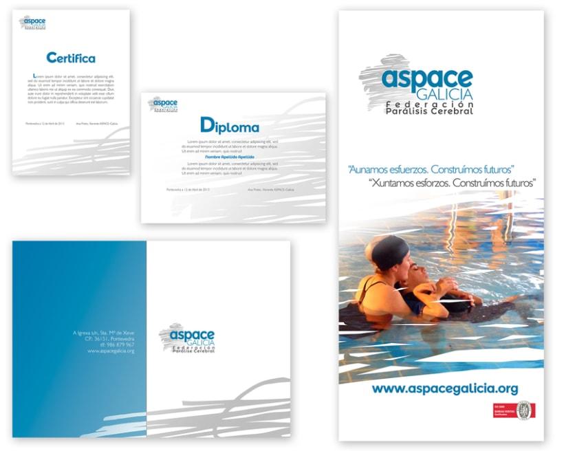 Imagen corporativa de la empresa ASPACE-Galicia 7