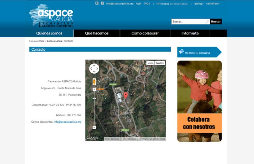 Web corporativa ASPACE-Galicia 2