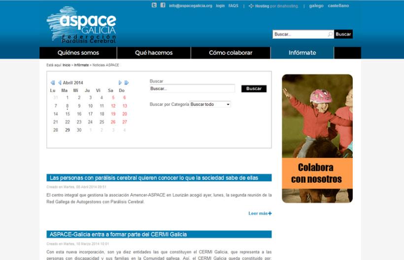 Web corporativa ASPACE-Galicia 3