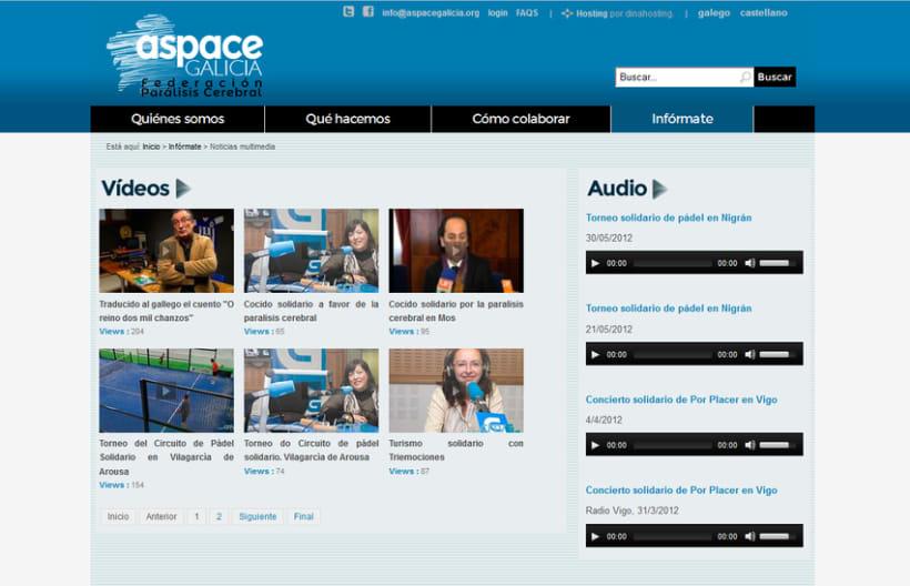 Web corporativa ASPACE-Galicia 4