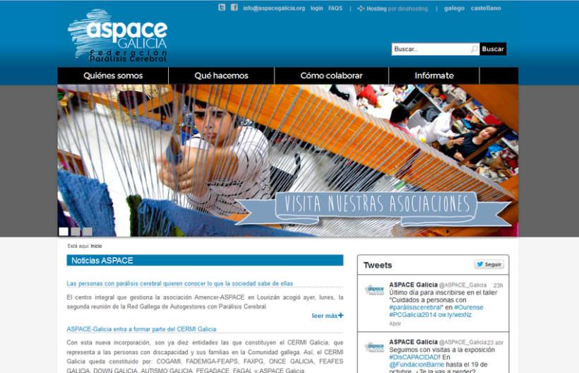 Web corporativa ASPACE-Galicia 1