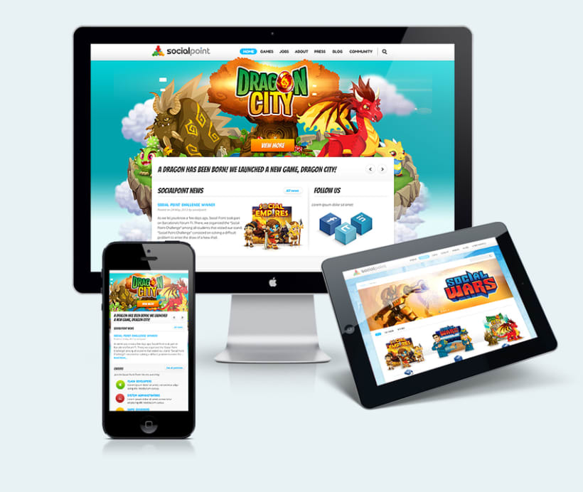 Social Point Responsive Website 0