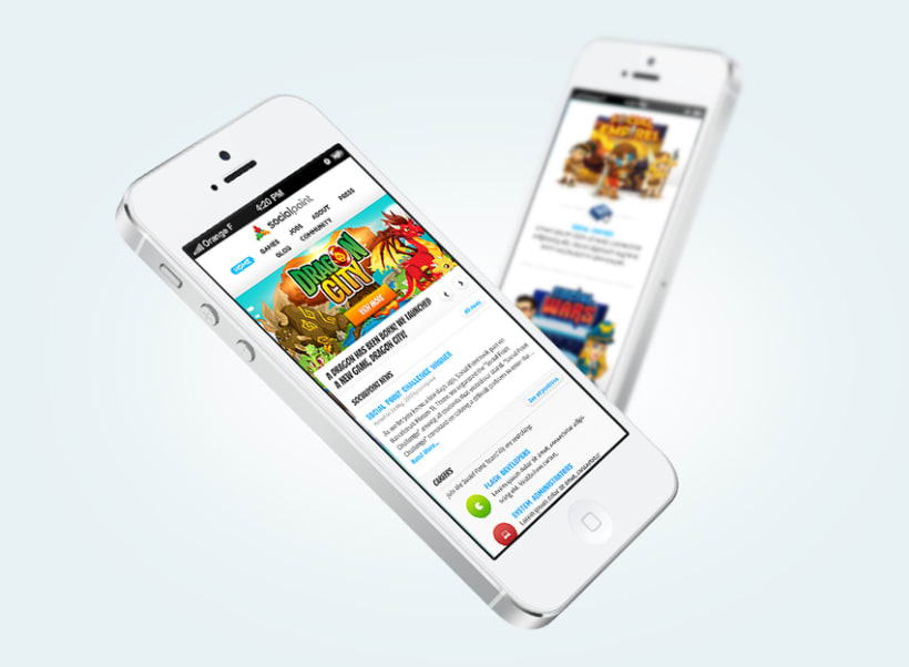 Social Point Responsive Website 2