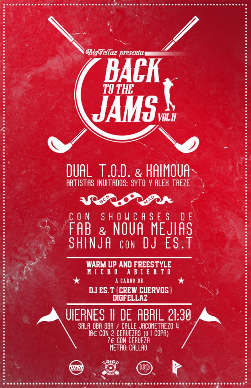 Cartel y folleto para ''Back to the jams Vol.II'' -1