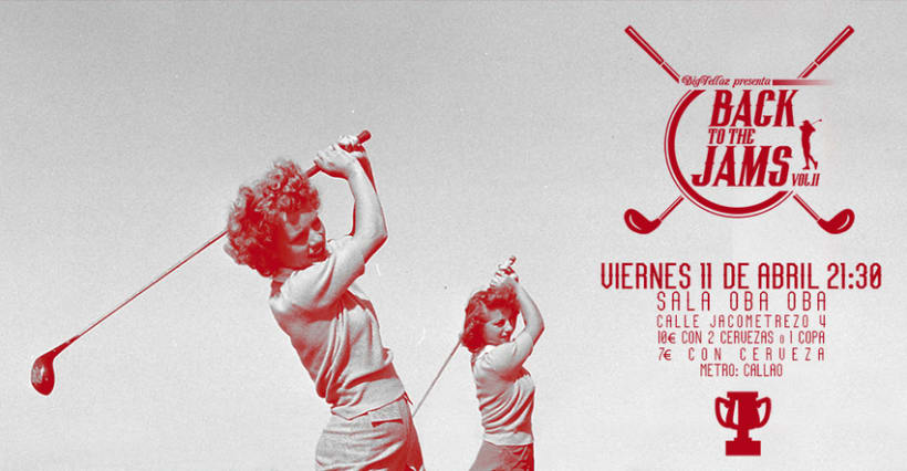 Cartel y folleto para ''Back to the jams Vol.II'' 0