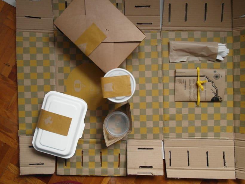 Packaging Woki organic market. Comida take away ecológica 0