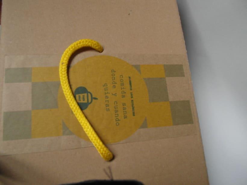 Packaging Woki organic market. Comida take away ecológica 1