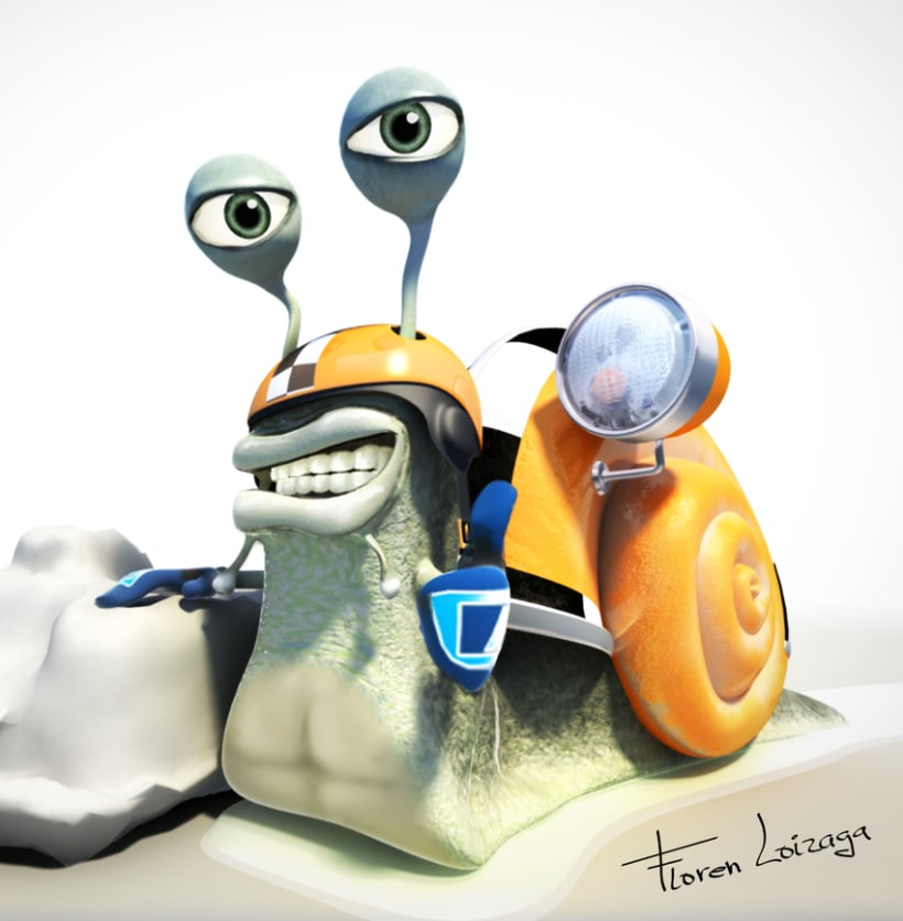 Catoon 3D Caracol 0