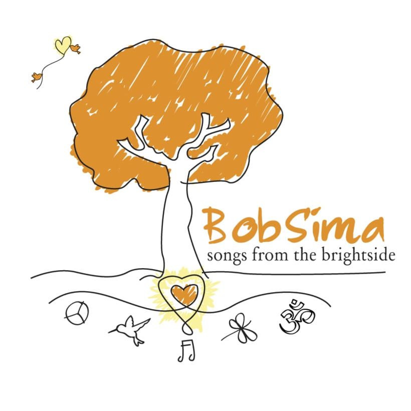 BOB SIMA - Diseño para camiseta del cantautor Bob Sima 0