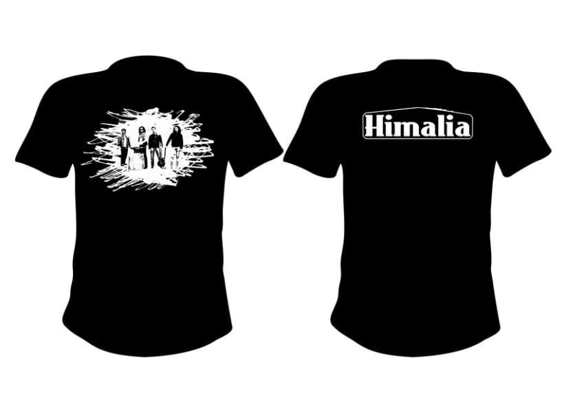 Diseño merchandising banda de rock Himalia 1