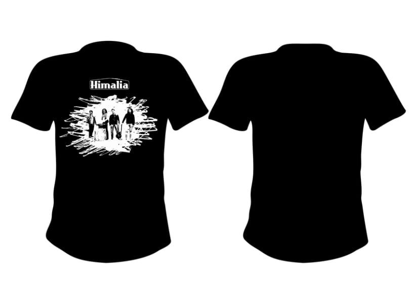 Diseño merchandising banda de rock Himalia 3