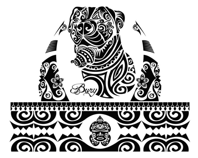 Diseo de tatuaje de perro con estilo maor Domestika