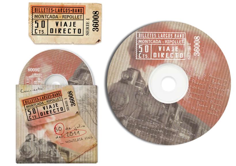 BilletesLargosBand >> CD cover, pack - poster -1