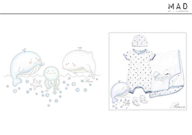Ilustración  de estampas para Indumentaria Infantil 7