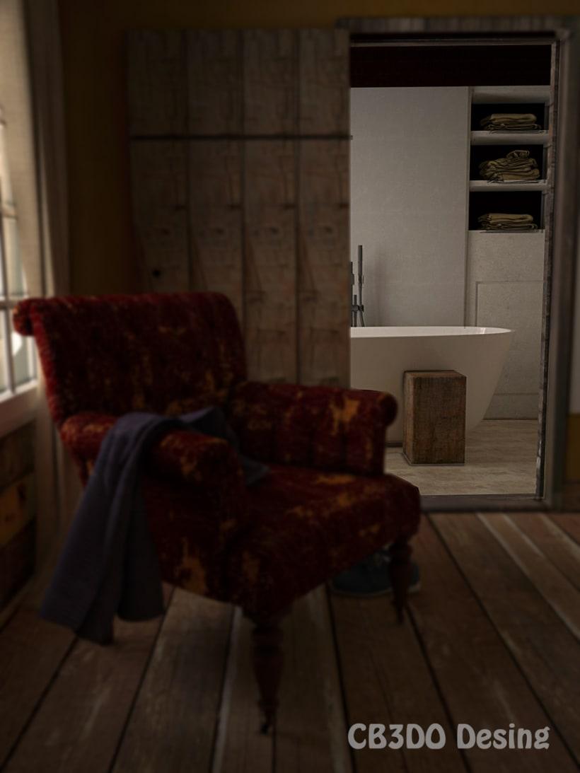 Interior con sillon 1