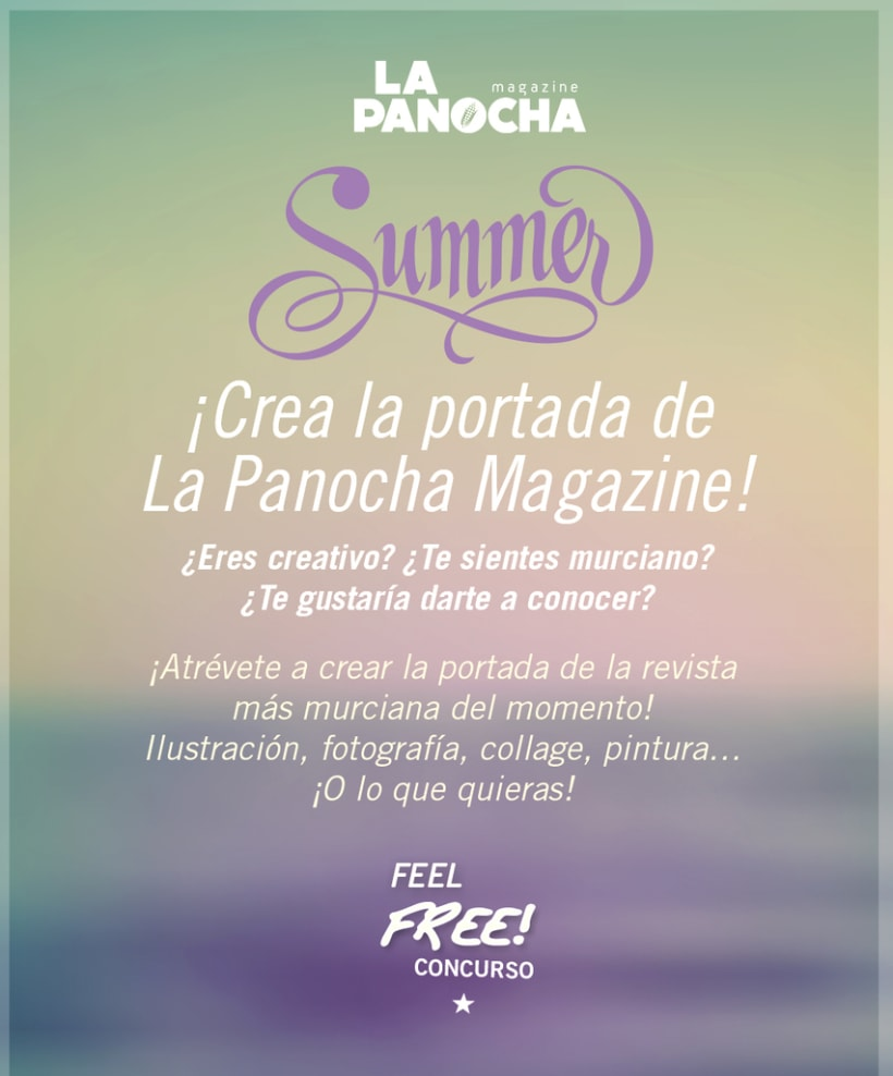 ¡Diseña la portada de La Panocha Magazine! Bases del concurso: http://lapanochamagazine.net/concursoportadan3/ -1