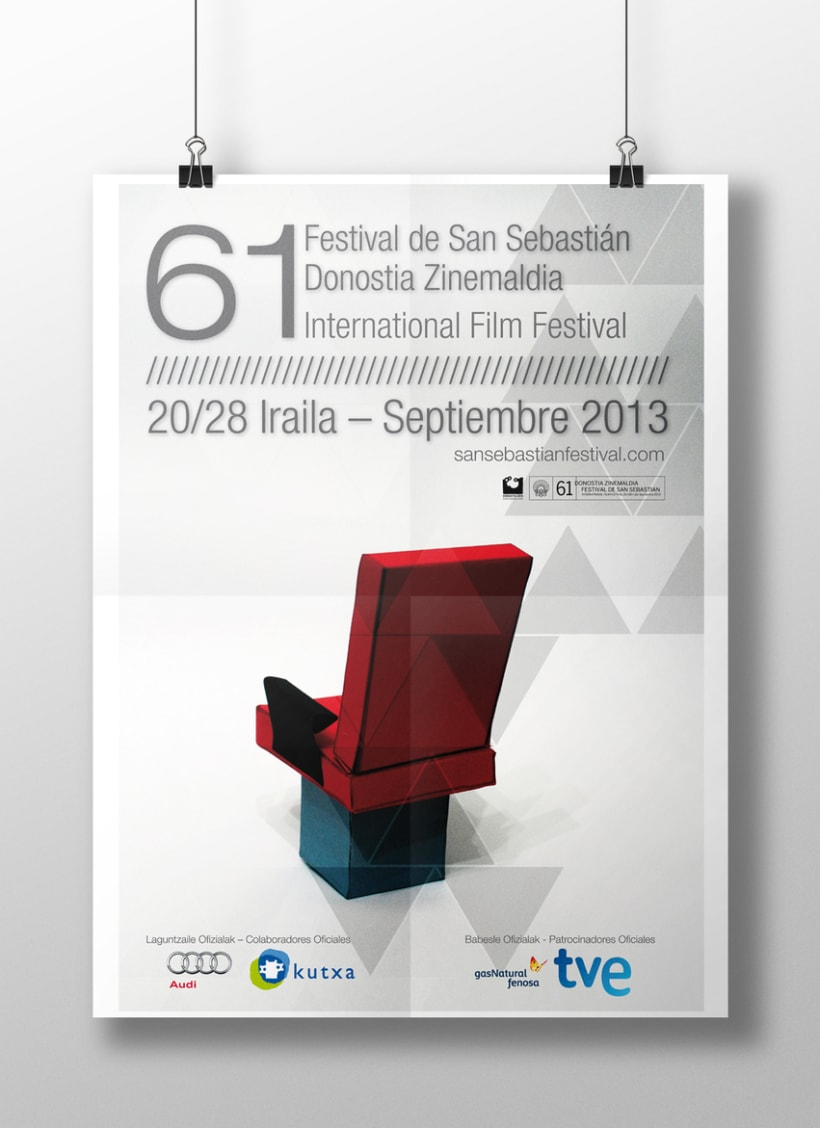 Concurso de carteles 61 Festival de cine internacional de San Sebastián -1