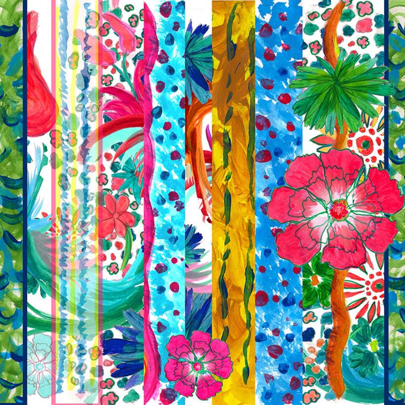 Floral Stripes -1