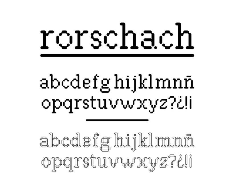 Tipografía Rorschach 0