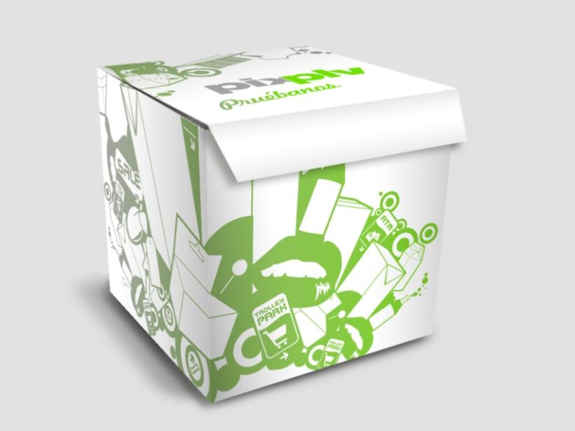 Caja promocional PLV Pix estudio 0