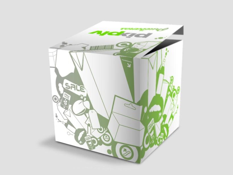Caja promocional PLV Pix estudio 1