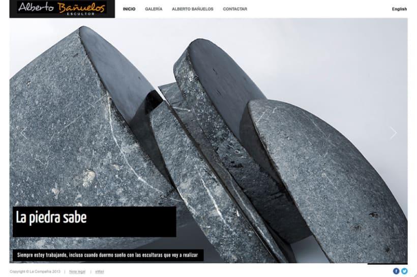 Web de Alberto Bañuelos (escultor) 1