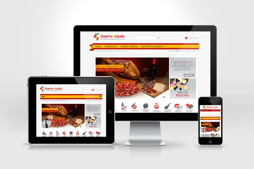 Web Internacional de productos españoles a domicilio  0