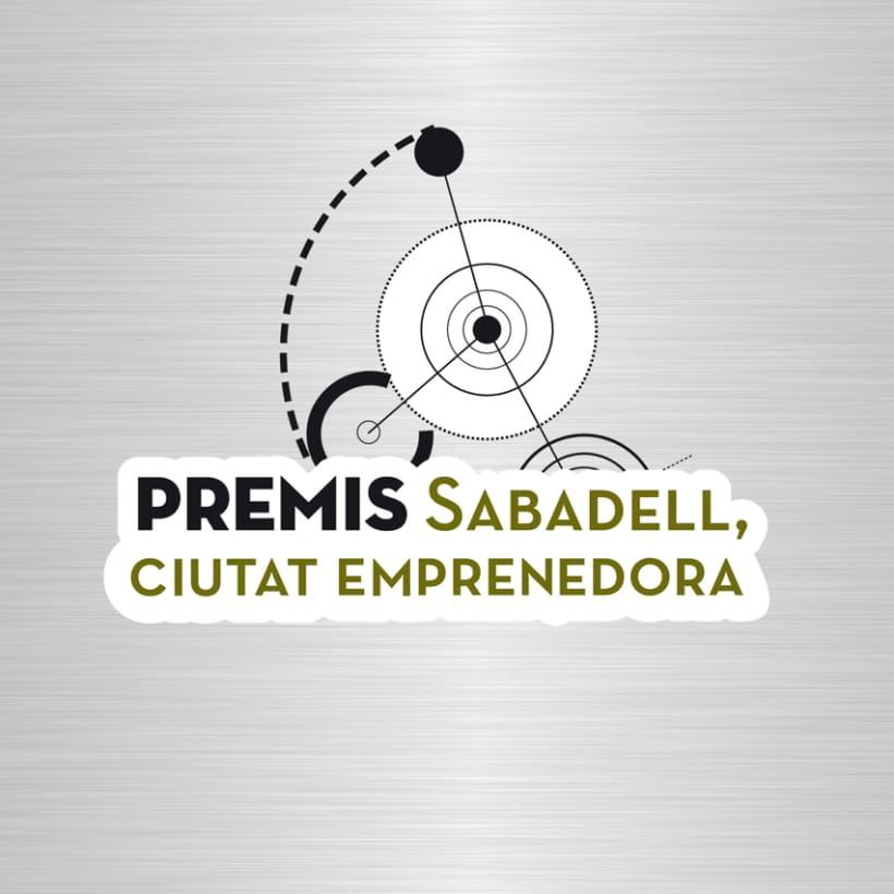 "Identidad Corporativa ""Premis Sabadell. Ciutat Emprenedora."" -1"