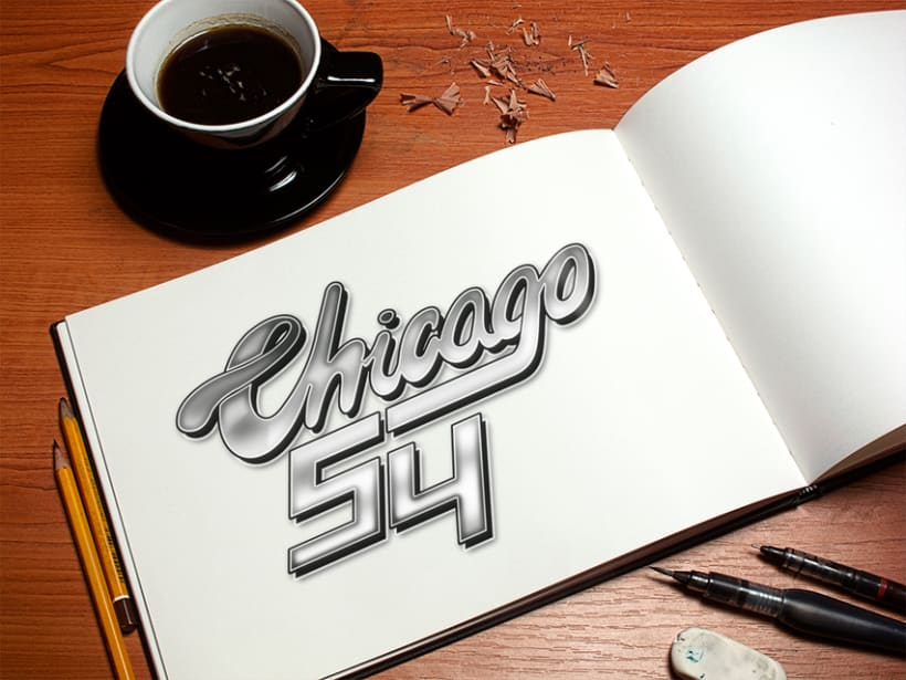 Lettering Chicago 54 -1