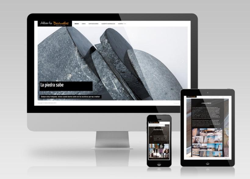 Web de Alberto Bañuelos (escultor) 0