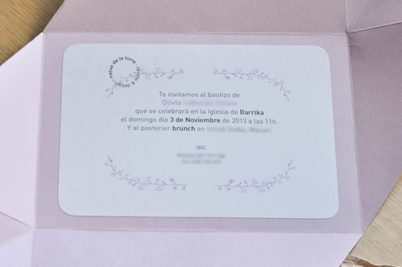 Invitación Floral Bautizo 5