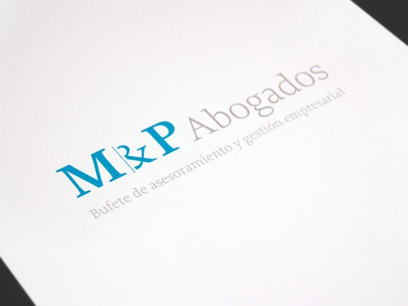 Identidad coorporativa M & P Abogados. 1
