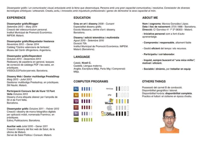 Curriculum vitae en Formato Triptico | Domestika