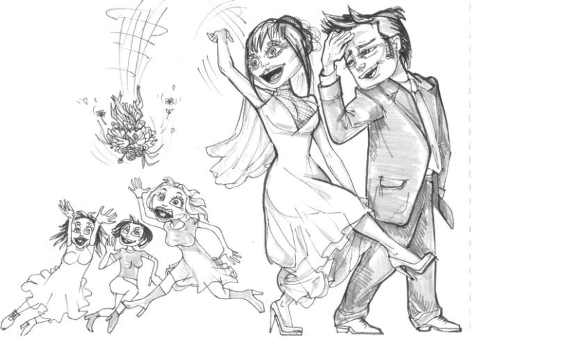 Ilustraciones para album de boda 0