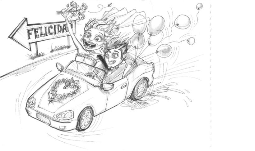 Ilustraciones para album de boda 3