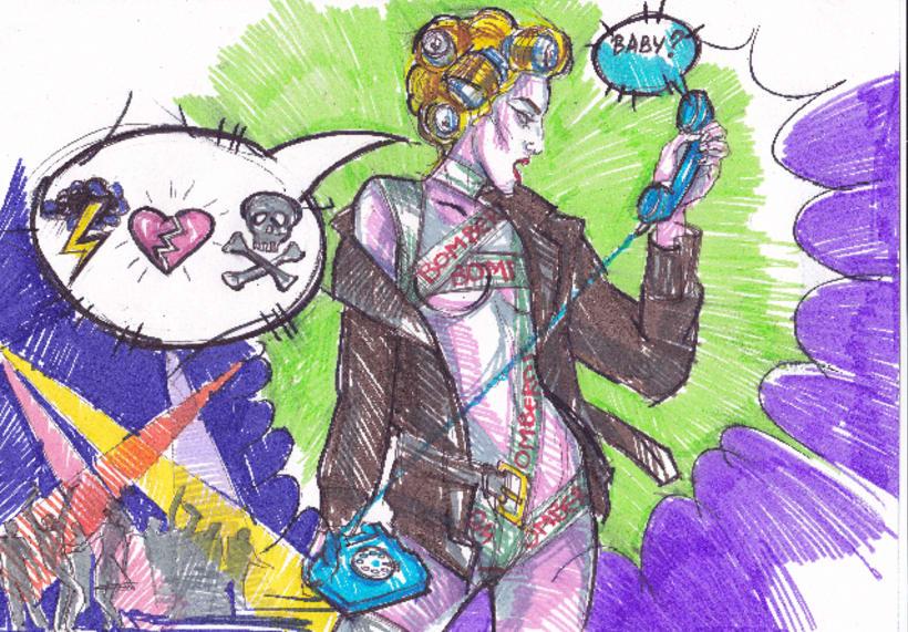 Telephone, Lady Gaga tribute (proyecciones para desfile de moda) 1
