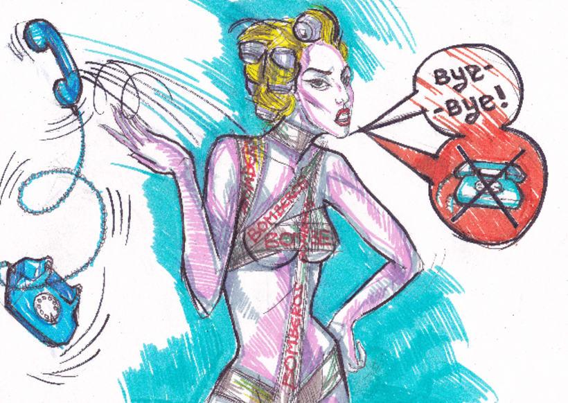 Telephone, Lady Gaga tribute (proyecciones para desfile de moda) 2