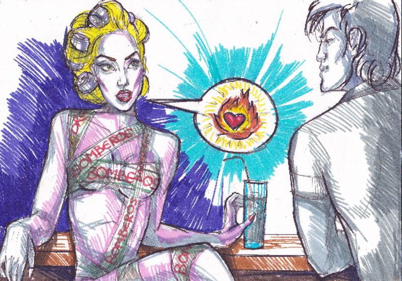 Telephone, Lady Gaga tribute (proyecciones para desfile de moda) 3
