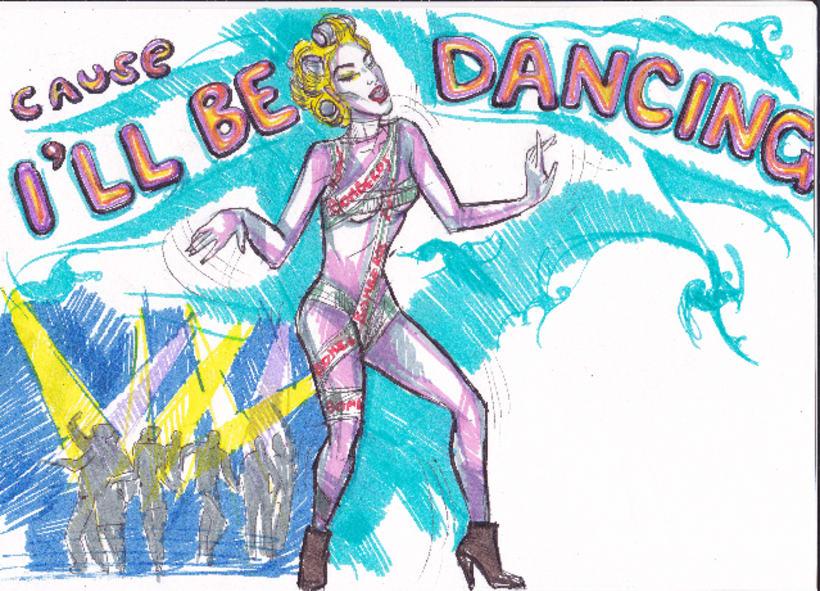 Telephone, Lady Gaga tribute (proyecciones para desfile de moda) 4
