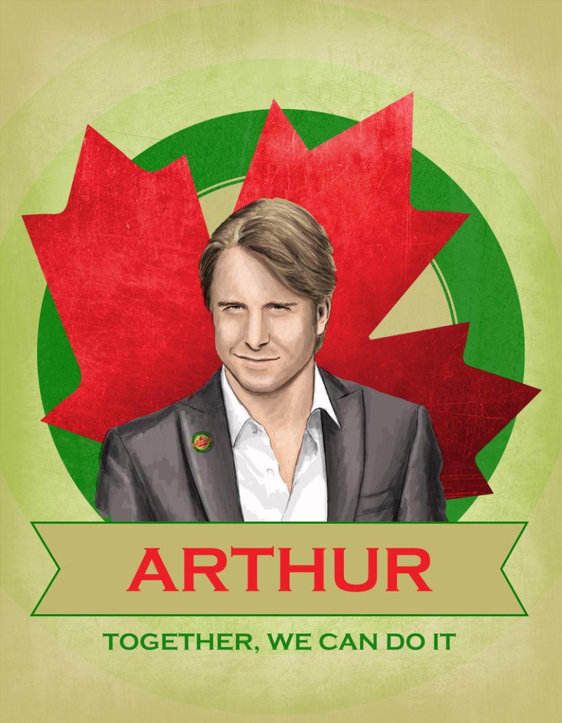 Cartel promoción elecciones Canadá -1
