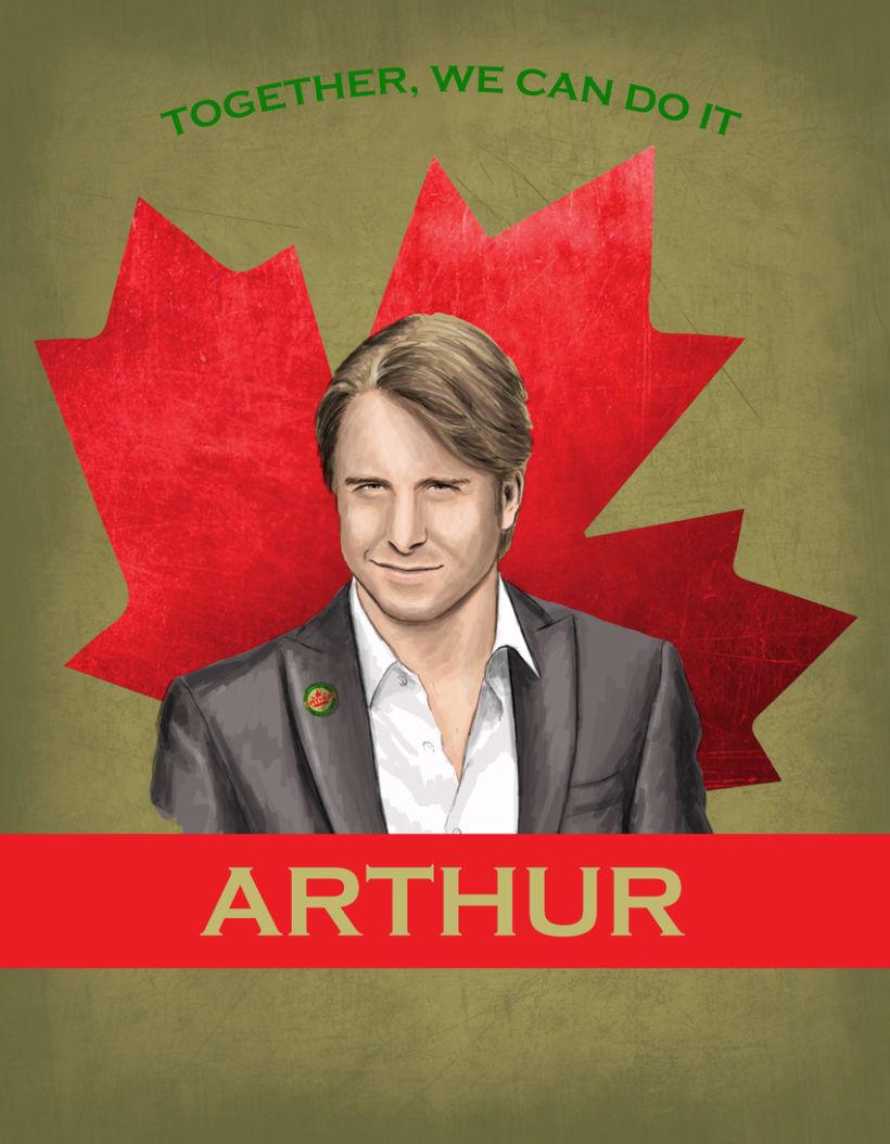 Cartel promoción elecciones Canadá 0