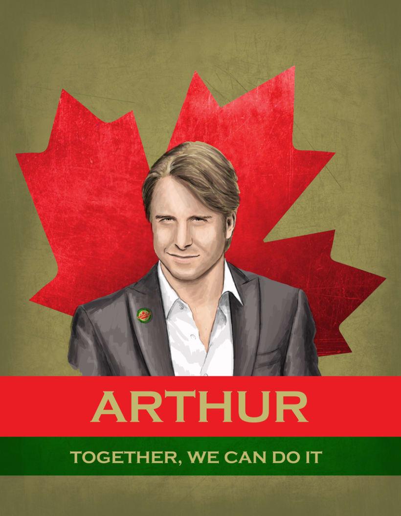 Cartel promoción elecciones Canadá 1