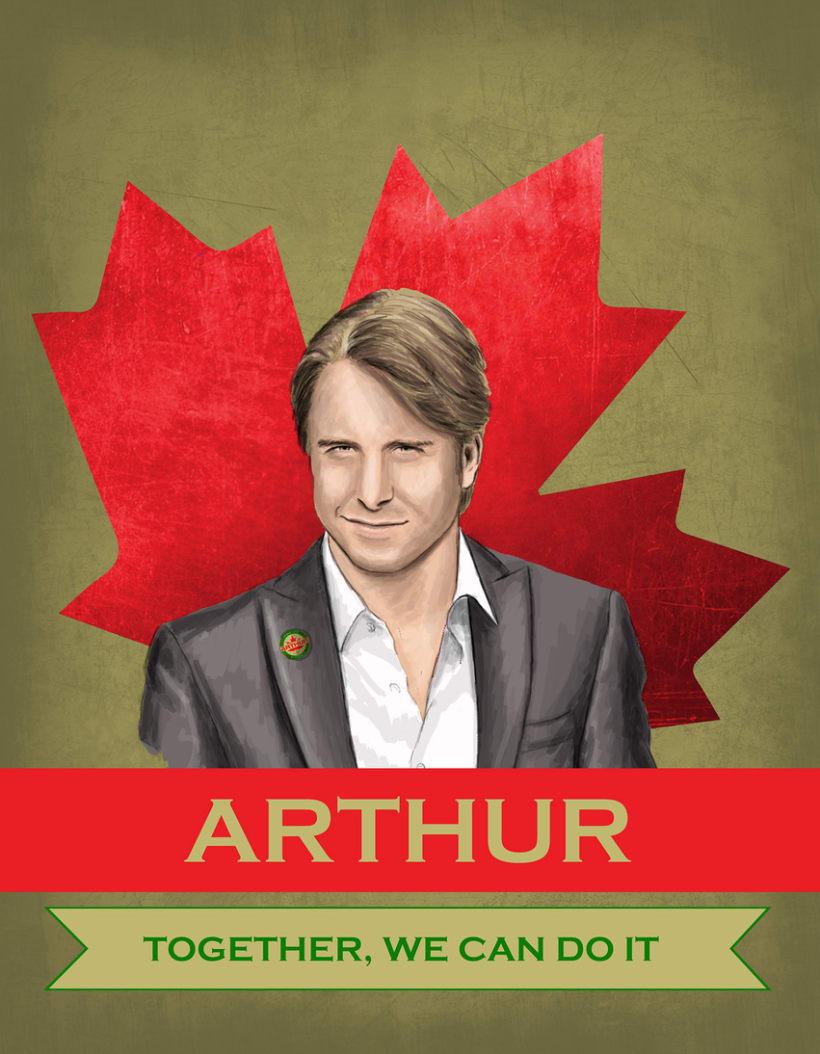 Cartel promoción elecciones Canadá 2