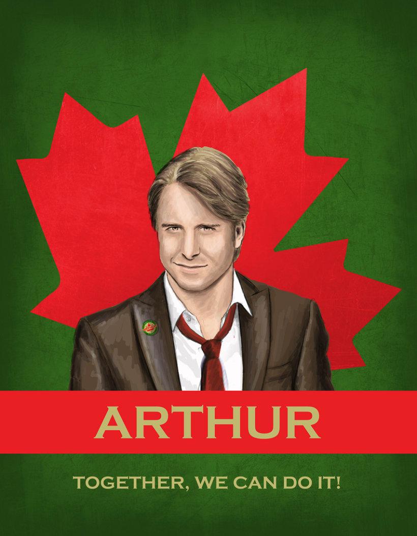 Cartel promoción elecciones Canadá 3