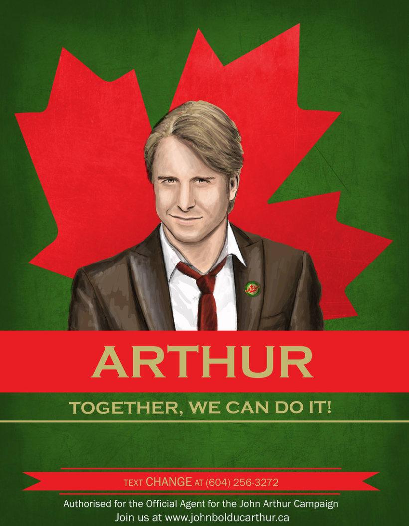 Cartel promoción elecciones Canadá 4