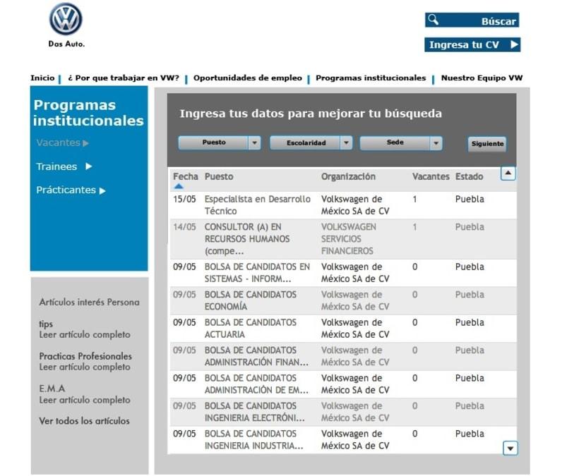 Diseño web VW Puebla 1